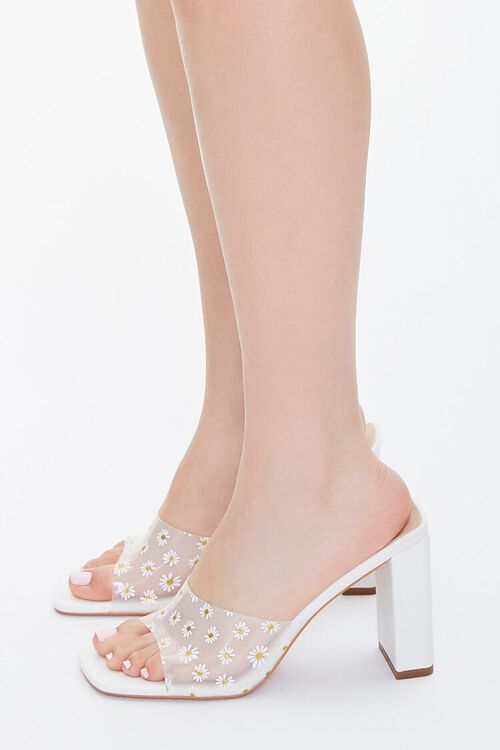Daisy Print Block Heels, image 2