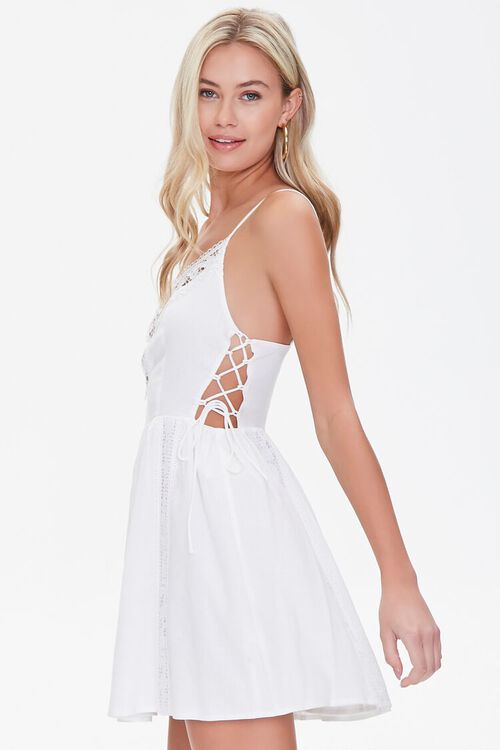 Lace-Panel Fit & Flare Dress, image 2