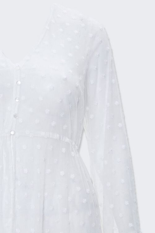 Plus Size Clip Dot Lace Kimono, image 3