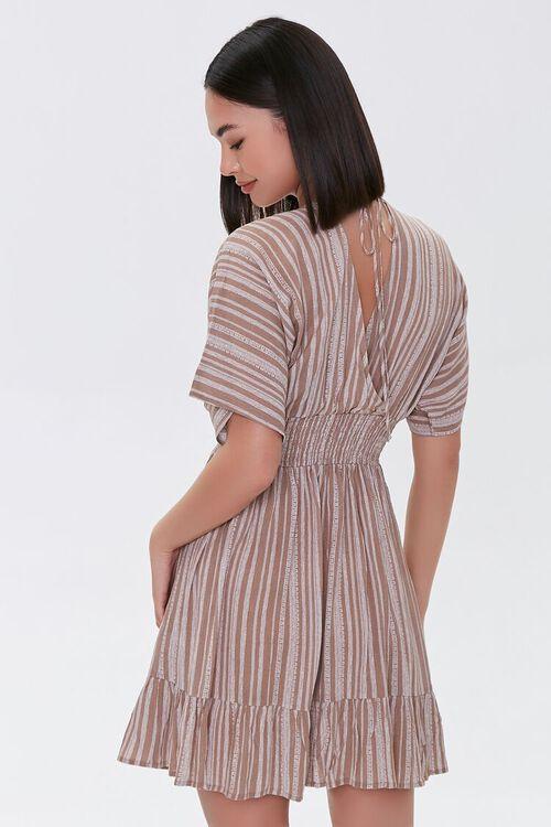 Plunging Striped Mini Dress, image 3