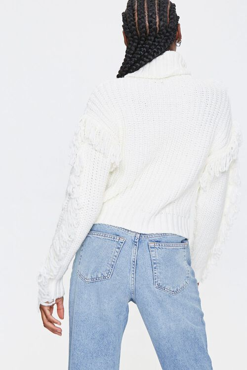 Loop-Knit Trim Turtleneck Sweater, image 3