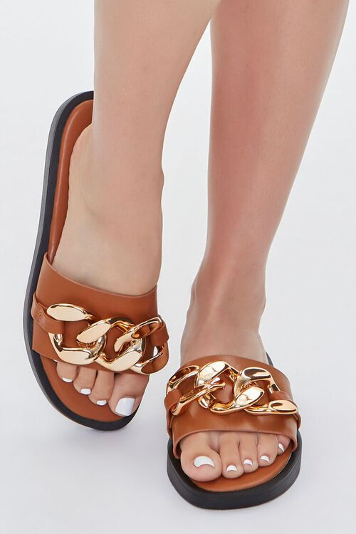 Curb Chain Slip-On Wedges, image 4