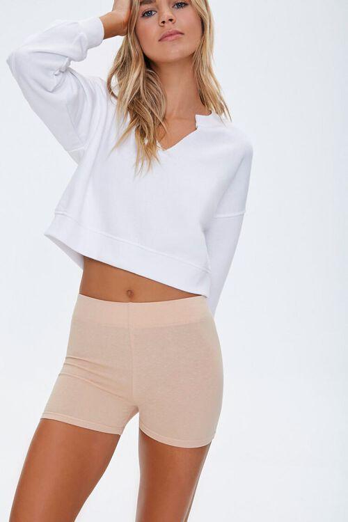 Cotton-Blend 3-Inch Biker Shorts, image 1