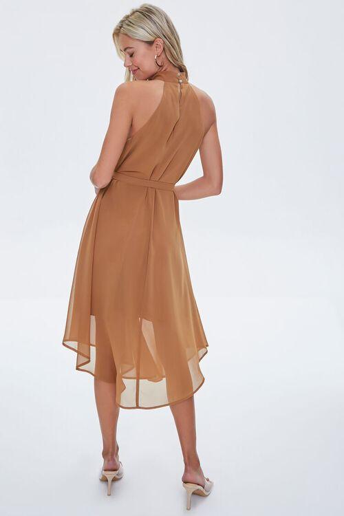 Mock Neck Tie-Waist Dress, image 3