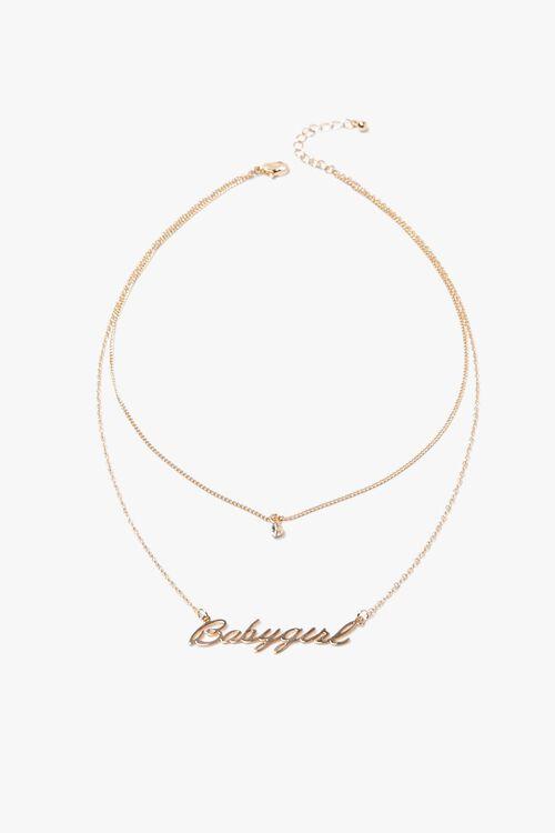 Babygirl Pendant Layered Necklace, image 2