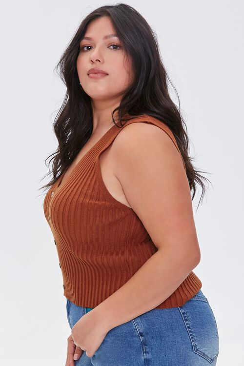 Plus Size Ribbed Sweater-Knit Vest, image 2