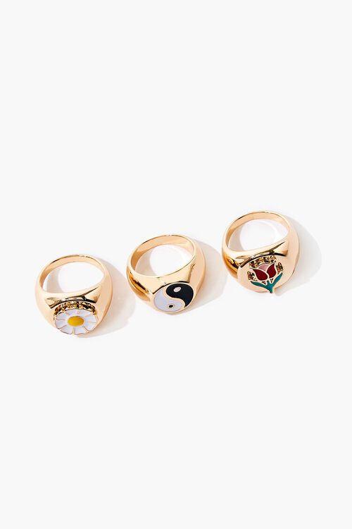 Yin Yang Charm Ring Set, image 1