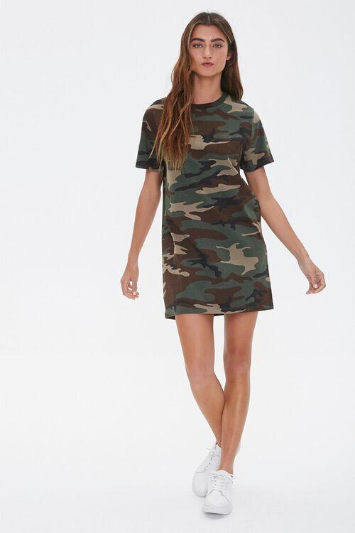 Camo Print T-Shirt Dress, image 4