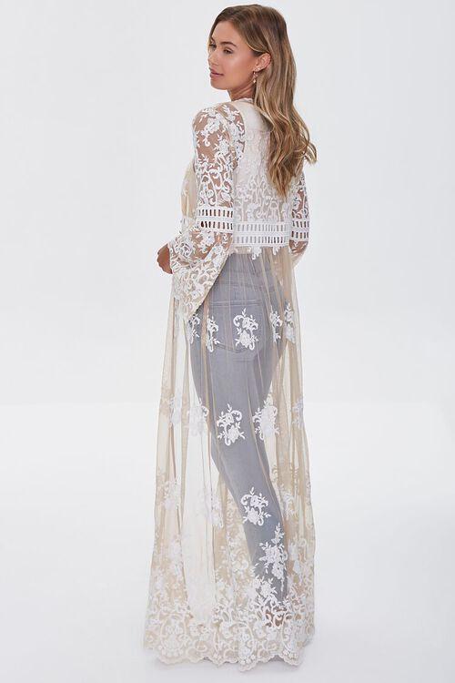 Sheer Embroidered Longline Kimono, image 2