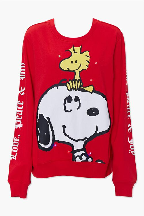 RED/MULTI Snoopy Light-Up Pullover, image 1