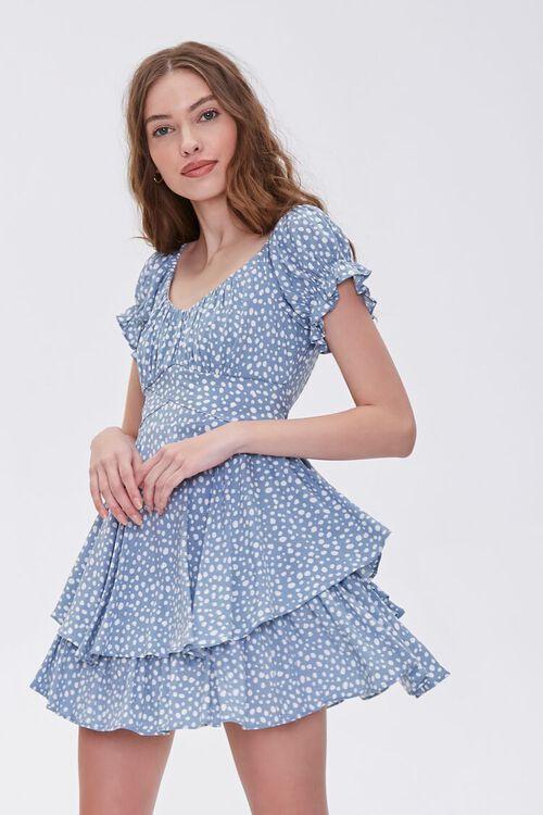 Spotted Print Flounce Mini Dress, image 1