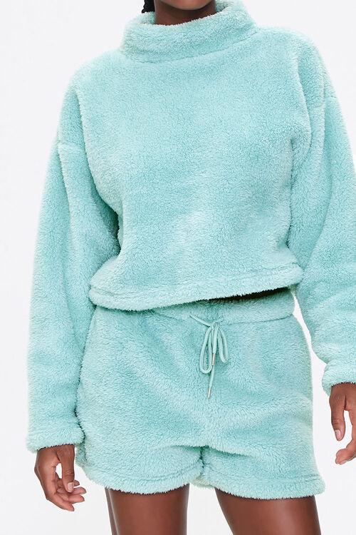 Plush Drawstring Shorts, image 1