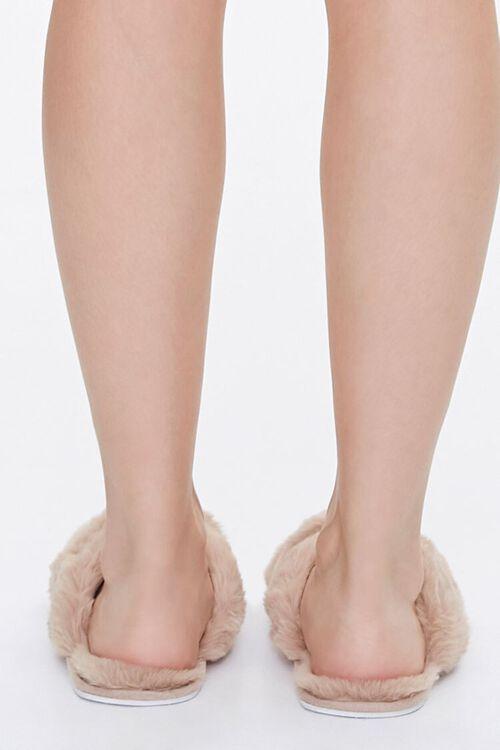 Faux Fur Crisscross Slippers, image 3