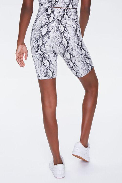BLACK/MULTI Snake Print Biker Shorts, image 4