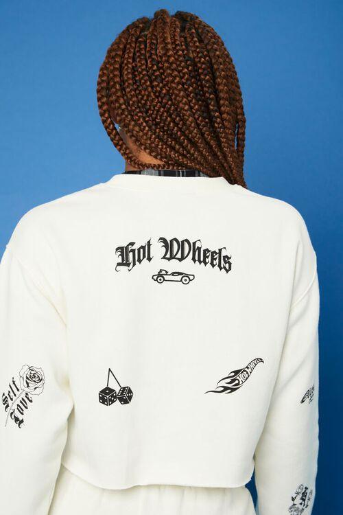CREAM/BLACK Hot Wheels Fleece Pullover, image 6