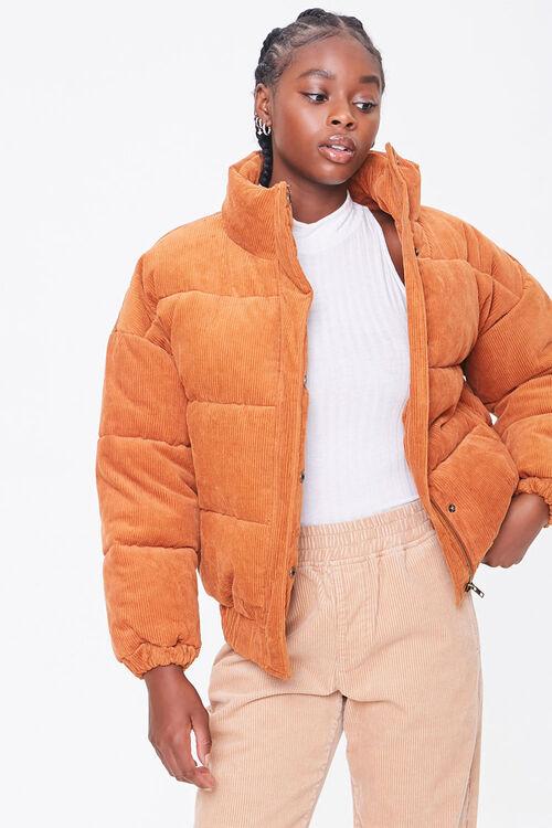 Corduroy Puffer Jacket, image 1