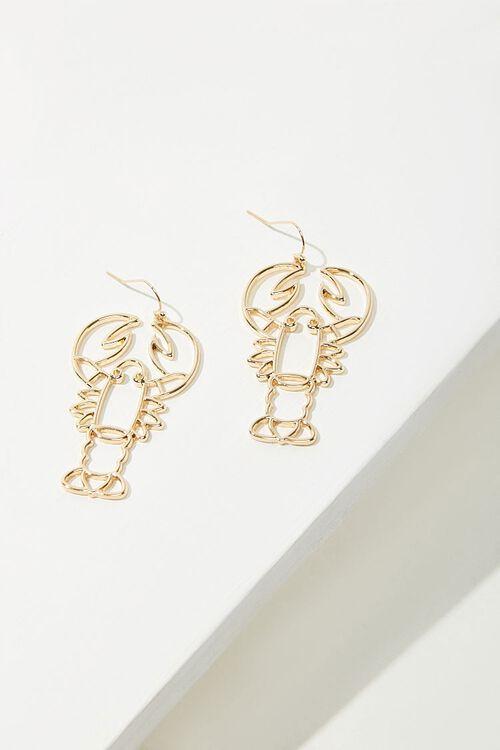 GOLD Lobster Cutout Drop Earrings, image 2