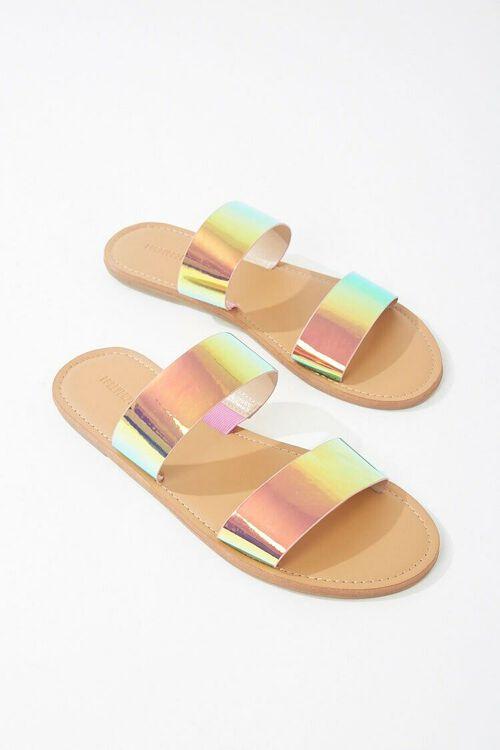 Vinyl Holographic Sandals, image 3