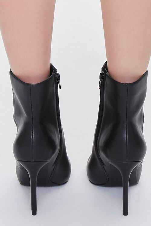 BLACK Faux Leather Stiletto Booties, image 3