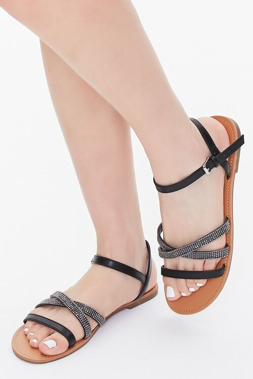Rhinestone Strappy Sandals, image 1