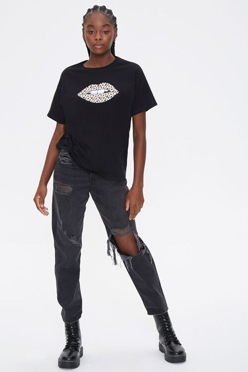 Leopard Lips Graphic Tee, image 4