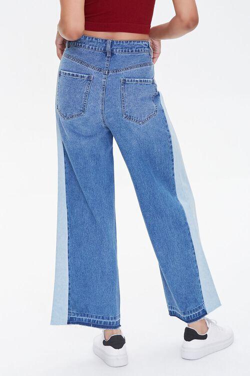 MEDIUM DENIM Side-Striped Wide-Leg Jeans, image 4