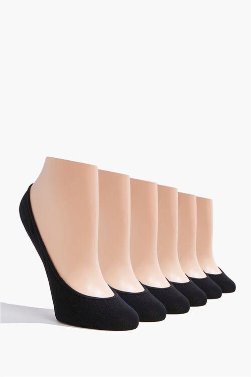 BLACK/BLACK No Show Socks - 3 Pack, image 1