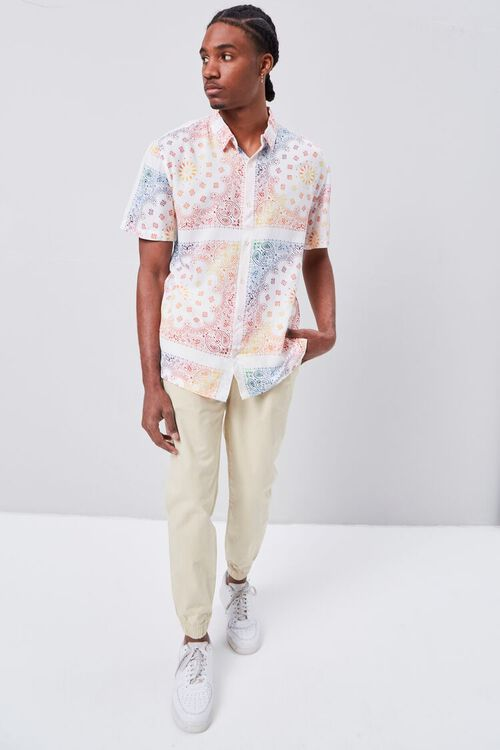 CREAM/MULTI Classic Fit Ornate Print Shirt, image 4
