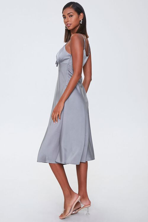 Ruched Satin Dress, image 2