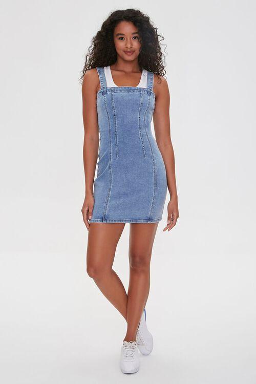 Denim Overall Dress, image 4