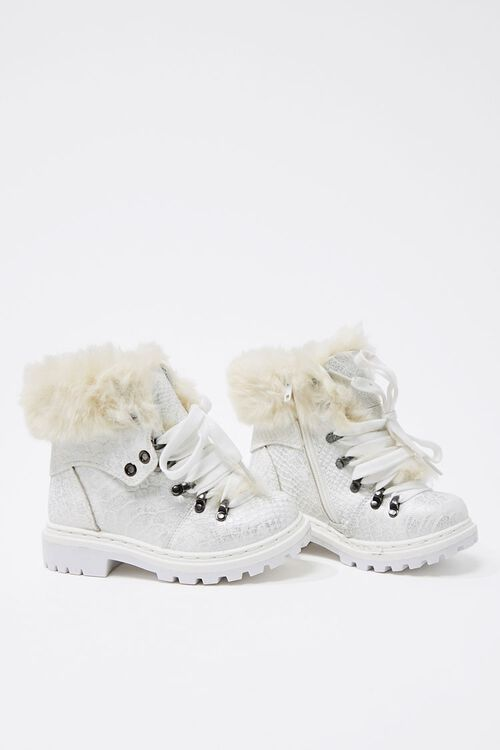 Girls Faux Fur-Trim Booties (Kids), image 3