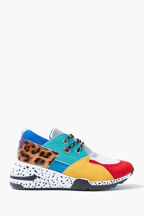 Colorblock Speckled Sneakers, image 1