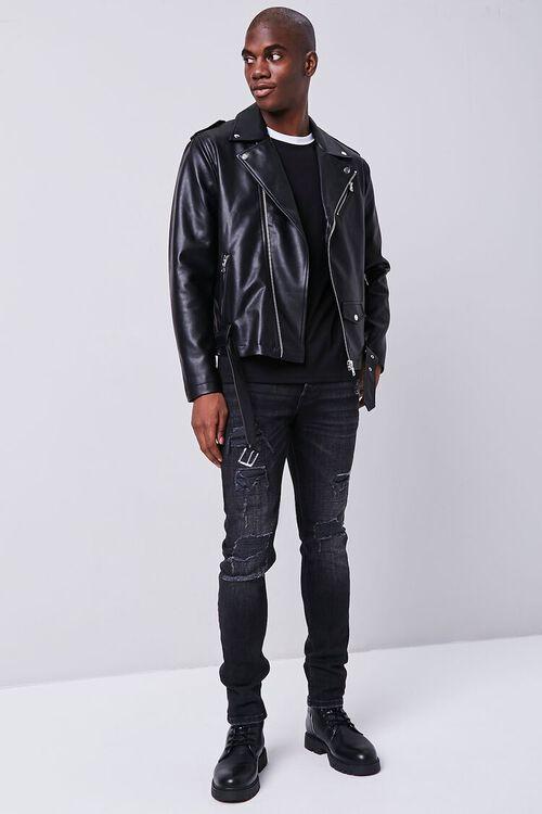 Faux Leather Moto Jacket, image 4