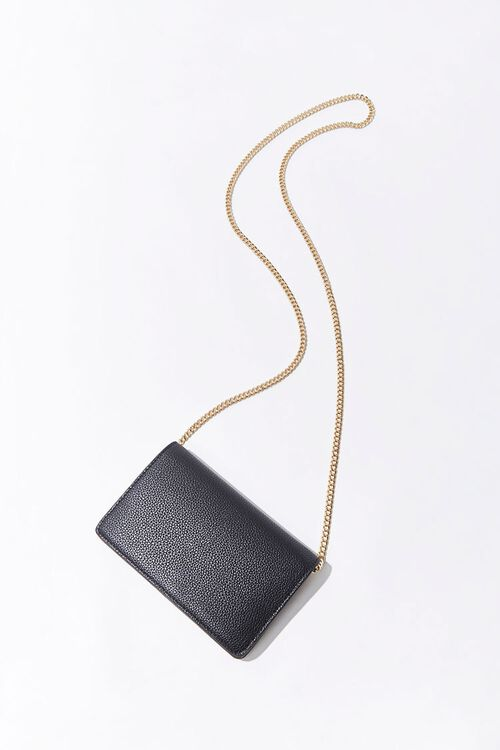 Pebbled Faux Leather Crossbody Bag, image 3
