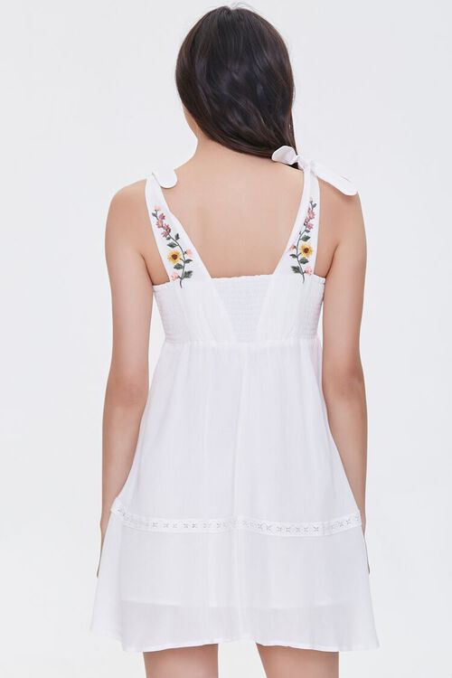 Embroidered Floral Mini Dress, image 4