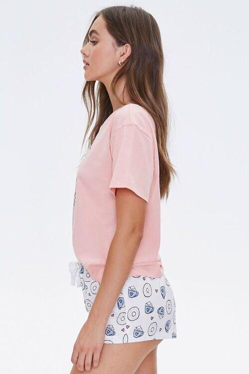 Doughnut Tee & Shorts Pajama Set, image 2