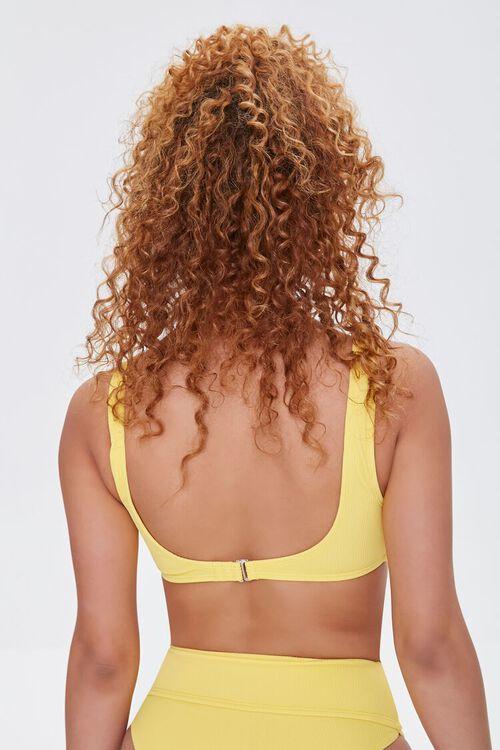 LIGHT YELLOW Ribbed Princess Bikini Top, image 3