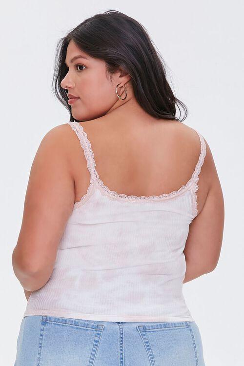 BLUSH/WHITE Plus Size Tie-Dye Cami, image 3