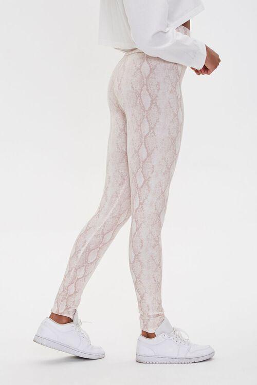 BLUSH/MULTI Snakeskin Print Leggings, image 3