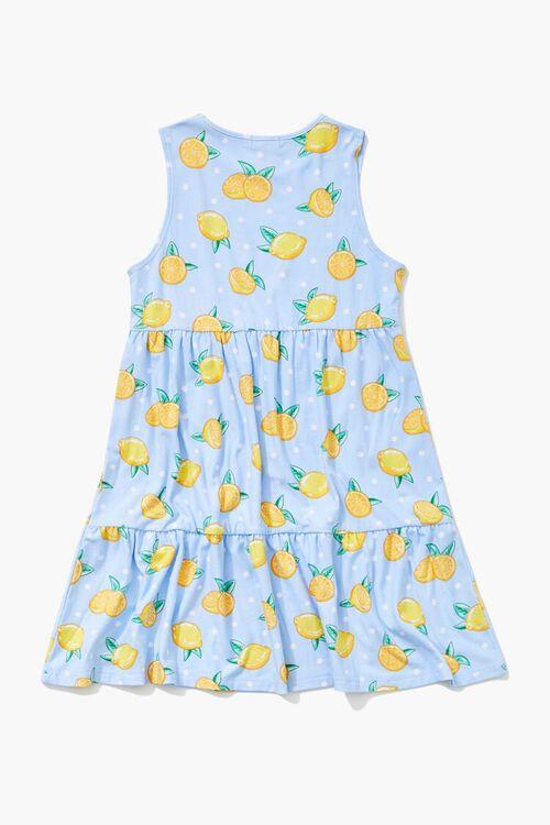 Girls Lemon Print Dress (Kids), image 2