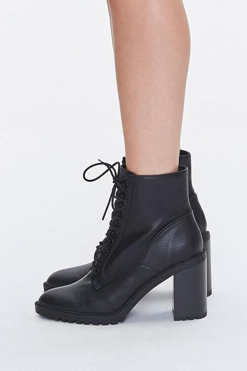 Lace-Up Block Heel Booties, image 2
