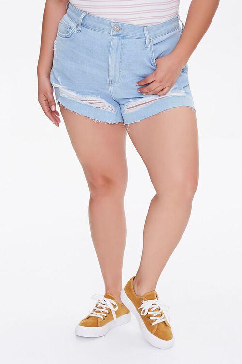 Plus Size Retro High-Rise Shorts, image 2