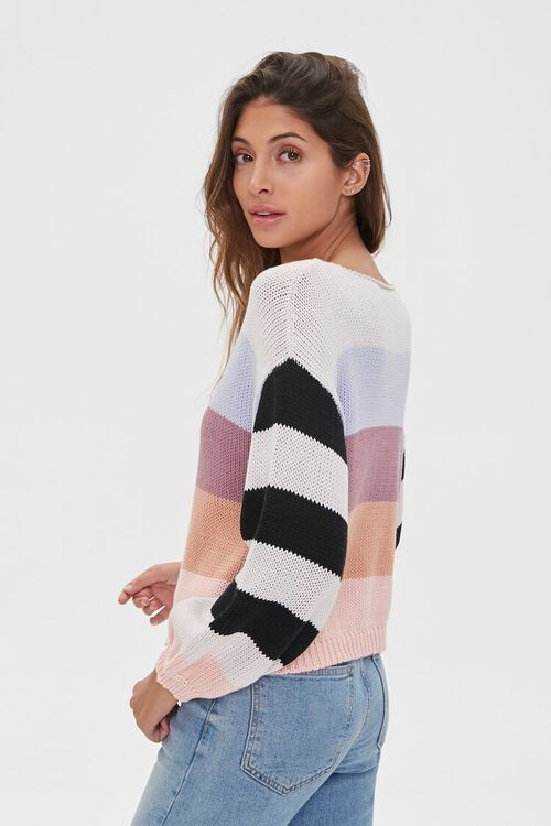 Striped-Sleeve Colorblock Sweater, image 2