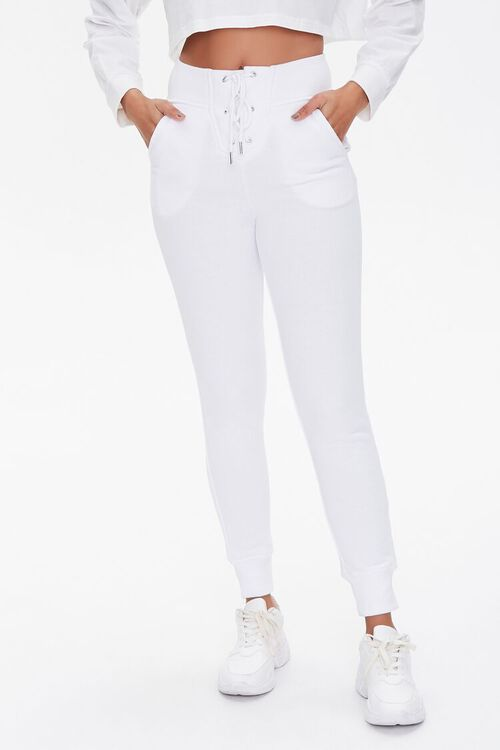 French Terry Lace-Up Joggers, image 2