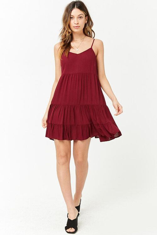 Lace-Up Tiered Dress, image 4