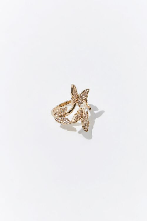 Butterfly Charm Cocktail Ring, image 3