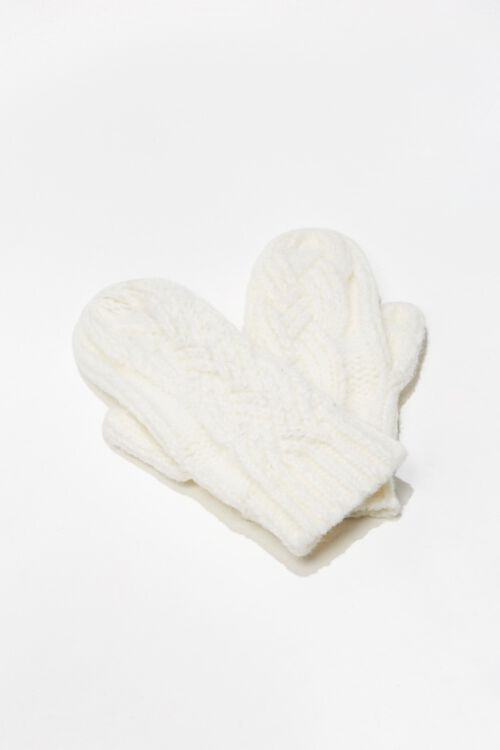Cable Knit Mittens, image 1