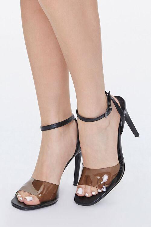 BLACK Semi-Transparent Stiletto Heels, image 1