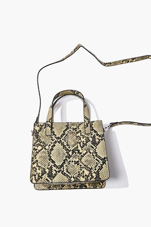 Faux Snakeskin Tote Bag, image 4