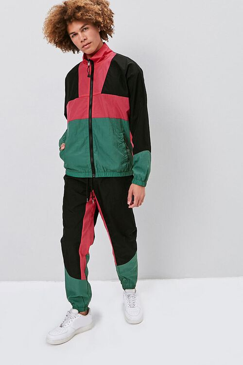 Colorblock Windbreaker Pants, image 1